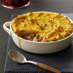 Turkey Shepherd's Pie with Two-Potato Topping | Food & Wine