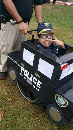 wheelchair police car costume tony