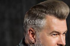 """""""Concept for stylish adult man with beard"""" Fotos de archivo e imágenes libres de derechos en Fotolia.com - Imagen 103634987"""
