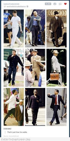 funny caption leonardo dicaprio that's just how we walks :D