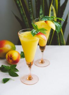 Recipe: Frozen White Wine Sangria with Stone Fruit & Mango — Blender Cocktail Recipes from The Kitchn