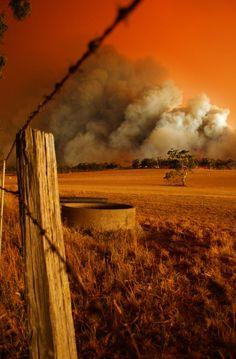 Bush fire in Australia (Black Saturday, VIC) All Nature, Amazing Nature, Western Australia, Australia Travel, South Australia, Land Of Oz, Victoria Australia, Countryside, Cool Photos