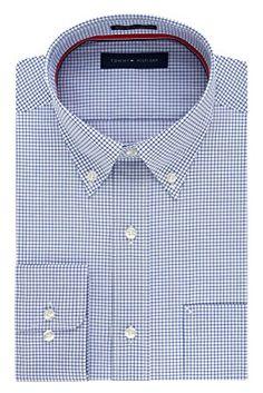 Tommy Hilfiger Men's Non Iron Regular Fit Check Button Down Collar Dress Shirt Review