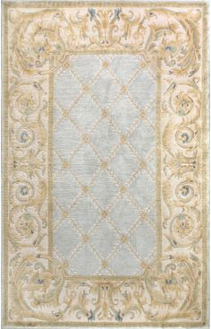Bashian Chantilly Chateau Light Blue Rug | Traditional Rugs--**LOVE this rug!!!**