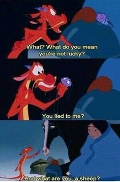 LOL, That's funny Mushu, Mulan is one of my favorite disney movies. Disney Pixar, Walt Disney, Disney And Dreamworks, Disney Magic, Frases Disney, Disney Amor, Disney Quotes, Disney Love, Mulan Quotes