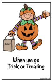 Trick-or-Treating Safety Book FREEBIE! Speech Therapy Special Education Autism