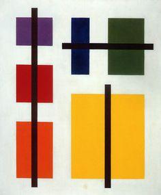 Max Bill (Swiss, 1908-1994), Construction of squares - quilt, crochet, papier macho