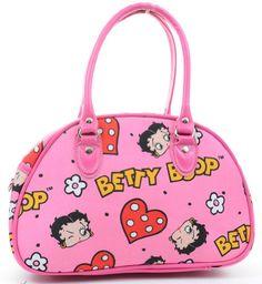 Amazon.com: Pink Lips Betty Boop All Over Bowling Purse Handbag: Clothing