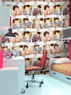 Official 1D merchandise - One Direction Collage Design Wallpaper Mural will Transform your room into the perfect 1D bedroom!