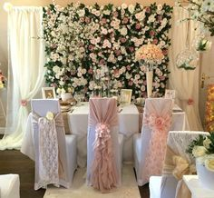 Our Vintage Pink flower wall looking stunning at a wedding show here! the perfect floral backdrop for the DIY bride