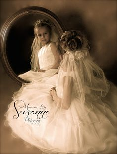 Absolutely love this portrait idea for my son's rechristening as Emily Grace -- seeing her new self in a mirror...