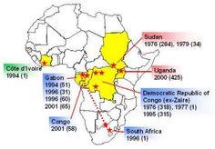 Ebola Virus Outbreak Map