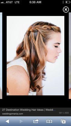 Pretty braid and open hair