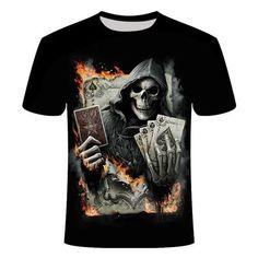 Skull Dead Hand T-Shirt | Skullflow Skull 3d, Unisex Clothes, Tee Shirt Homme, Shirt Men, 3d T Shirts, Skull Shirts, Gym Tops, 3d Prints, Punisher