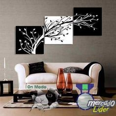 Shop our best value Black White Tree Painting on AliExpress. Check out more Black White Tree Painting items in Home & Garden, Home Improvement, Men's Clothing, Women's Clothing! And don't miss out on limited deals on Black White Tree Painting! Canvas Home, Canvas Wall Art, 3 Panel Wall Art, 3 Piece Canvas Art, Canvas Prints, Art Prints, Decoration Bedroom, Wall Decor, Black And White Flowers