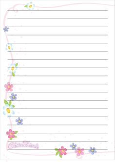 Pretty Note Paper From Glitter Friends Bling
