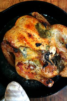 This is a recipe for Zuni Cafe Roast Chicken and Bread Salad, with some personalization. Alexandra just makes the chicken and I think I will too. Looks fabulous and only takes 45 minutes.