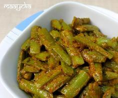 Stir fried Cluster bean curry /Guvar phali withyogurtand I ndian spices       Prep time-10 min  Cooking time 10 min  Cusine-India...