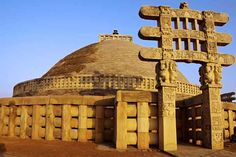 Great Stupa at Sanchi - This oldest Indian stone structure was built by king Ashoka the Great in the century BC. Great Stupa At Sanchi, Sanchi Stupa, Ashoka Chakra, Indus Valley Civilization, Travel Blog, History For Kids, Hotel Website, Cheap Hotels, Ancient Architecture
