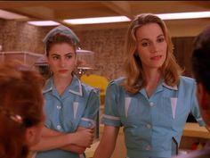 RR Diner uniform, Norma Jennings (Peggy Lipton) & Shelly Johnson (Mädchen Amick), Twin Peaks