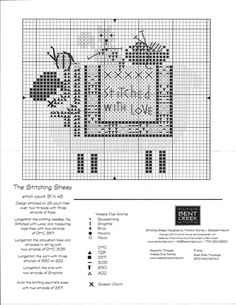 The Stitching Sheep Bent creek Sheep Cross Stitch, Cross Stitch Heart, Cross Stitch Samplers, Cross Stitch Animals, Cross Stitch Flowers, Cross Stitching, Cross Stitch Embroidery, Embroidery Patterns, Cross Stitch Freebies