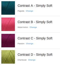 2015 Mystery Afghan KAL/CAL - Crochet Color Combos - Yarnspirations Blog http://blog.yarnspirations.com/keeping-track-colors-mystery-afghan-kalcal/