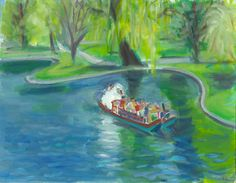 Original paintings from the Boston series are now for sale on etsy.com  Swan Boats