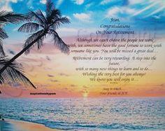 Humorous retirement poems retirement greetings at work greetings personalized tropical sunset art by inspirationsbypam on etsy m4hsunfo