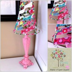 {KISS How To} Lamp Makeover - The Sewing Loft
