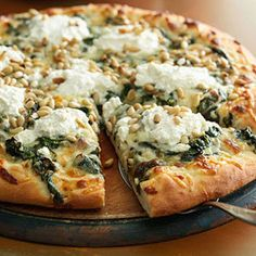 mmmm... Four Cheese White Pizza, along with many other hearty meatless meals