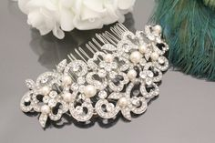 Mariage perle peigne cheveux bridal peigne par Angelbridalshop