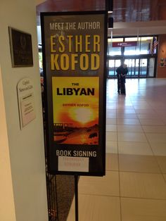 Book signing at airport for THE LIBYAN Esther Kofod www.estherkofod.com