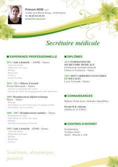 CV vert http://www.cv-word.com/modele-cv/modele-cv-exemple/modele-exemple-cv-word-a-telecharger-secretaire-medicale.htm