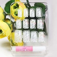 QINF White Lace Style False Nail Tips *** Check out this great product.