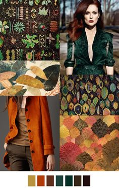 Fashion Trend forecasting for women's fashion collection. is a Fashion Design Studio and Growth Business Consultancy helping startup fashion brands and gowing fashion brands to plan, design and market their new collections. Colour Combinations Fashion, Fashion Colours, Colorful Fashion, Deep Autumn, Warm Autumn, Autumn Harvest, Mode Inspiration, Color Inspiration, Woman Inspiration