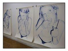 Ballpoint Pen Drawings by Juan Francisco Casas - hyperrealism Biro Drawing, Cool Drawings, Pen Drawings, Ballpoint Pen Drawing, Cool Artwork, Mood Swings, Pencil, Paintings, Create