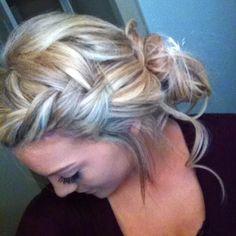 Beautiful bun for long hair