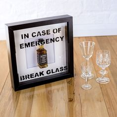 In case of emergency break glass novelty Jack by InkMonkeyArt