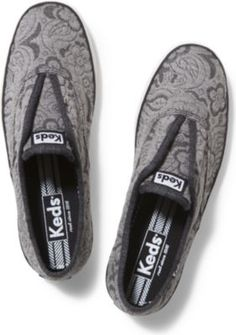 Women - CHAMPION LACELESS FLORAL JERSEY - Charcoal | Keds