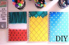 Resultado de imagem para diy notebooks for school