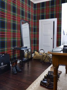 Plaid dude room.