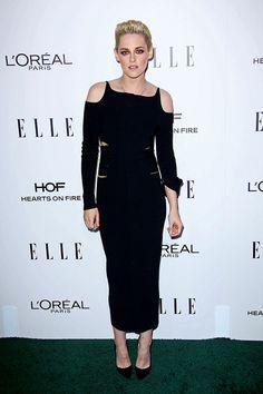 Kristen Stewart in Roberto Cavalli attends the ELLE Women in Hollywood October 24, 2016 in LA. (REX/Shutterstock)