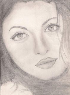 my first fine sketch .AishwarYa - Sketching by rashi sagar in old ones! at touchtalent Pencil Drawings Of Girls, Art Drawings Sketches, Digital Paintings, Old Ones, Sketchbooks, Sketching, Artsy, Portrait, Celebrities