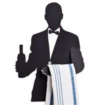 Size: X X / 19 X 3 X 27 cm Metal Upgrade the look of your kitchen with this stylish (and practical! Shaped as a waiter holding a bottle of wine in one hand and a towel in another, it can be Liquor Shop, Towel Hanger, Kitchen Design, Kitchen Ideas, Kitchen Towels, Cool Rugs, Primary Colors, Pure Products, Black And White