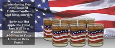 God Bless America 6 Pack Buy five God Bless America 6oz jars and receive one God Bless America 6oz jar FREE. As American as apple pie. Sold in 6 packs only.