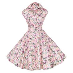 Maggie+Tang+Women's+50s+Vintage+Floral+Rockabilly+Hepburn+Pinup+Cos+Party+Swing+Dress+512+–+USD+$+29.99