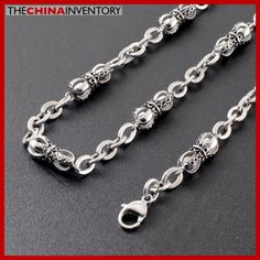 22` STAINLESS STEEL CROWN CHAIN NECKLACE N2604 Best Jewelry Stores, Jewelry Shop, Nyc, Stainless Steel, Chain, Bracelets, Silver, Gold, Bangle Bracelets