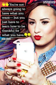 Demi Lovato Most Inspiring Quotes — Demi Lovato Pinterest Quotes - Seventeen
