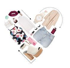 """Heart shaped box"" by skaltoft on Polyvore featuring Rebecca Minkoff, Topshop, Versace, Bottega Veneta, Nina Ricci, OPI, Too Faced Cosmetics, Eos, NARS Cosmetics and Kofta"
