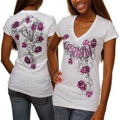Hostility Blossom Ladies T-shirt - White